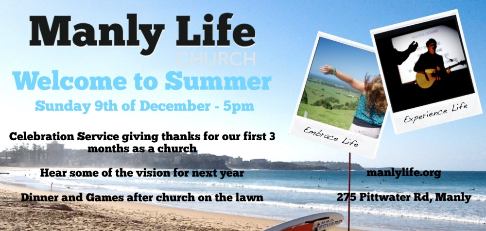 Welcome to Manly Life Church (4/5)